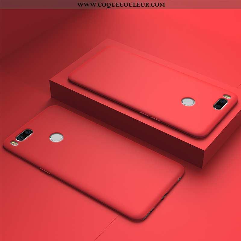 Étui Xiaomi Mi A1 Ultra Tout Compris Coque, Coque Xiaomi Mi A1 Légère Silicone Rouge