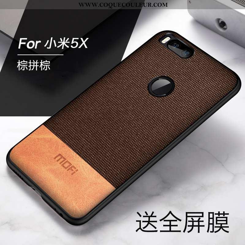 Housse Xiaomi Mi A1 Légère Incassable Tout Compris, Étui Xiaomi Mi A1 Fluide Doux Délavé En Daim Mar