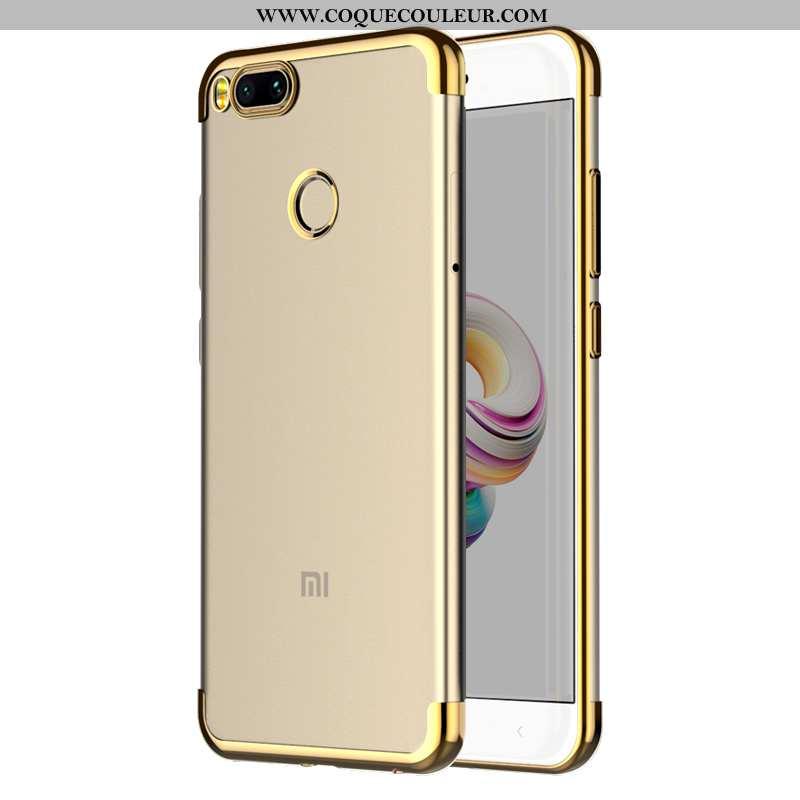 Coque Xiaomi Mi A1 Légère Protection Or, Housse Xiaomi Mi A1 Fluide Doux Incassable Doré