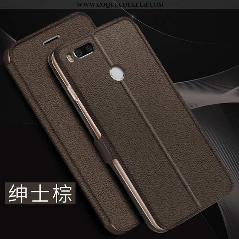 Coque Xiaomi Mi A1 Créatif Légère Clamshell, Housse Xiaomi Mi A1 Ultra Étui Marron