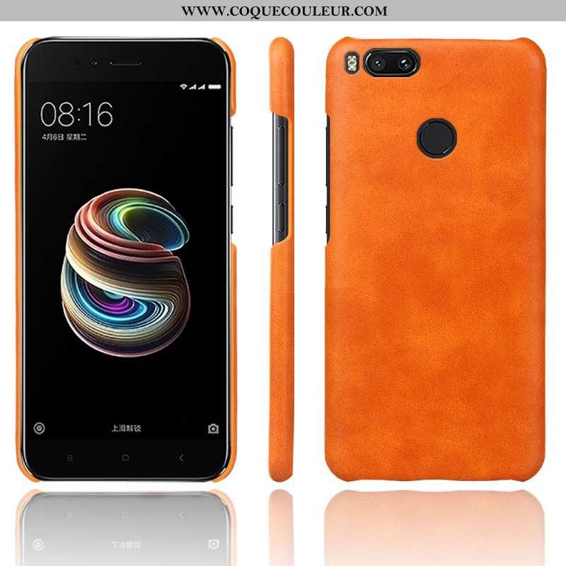 Housse Xiaomi Mi A1 Modèle Fleurie Orange Business, Étui Xiaomi Mi A1 Protection Qualité