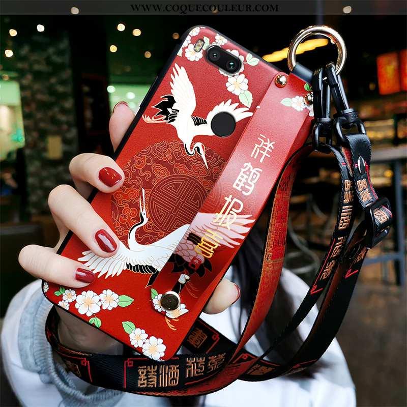 Coque Xiaomi Mi A1 Fluide Doux Étui Coque, Housse Xiaomi Mi A1 Silicone Personnalité Rouge