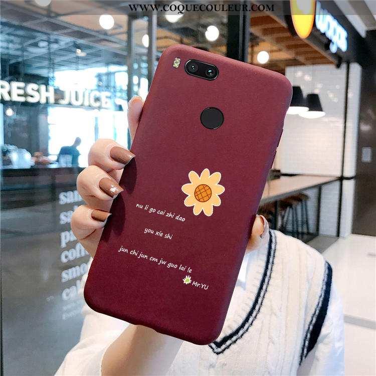 Housse Xiaomi Mi A1 Silicone Simple Délavé En Daim, Étui Xiaomi Mi A1 Protection Téléphone Portable