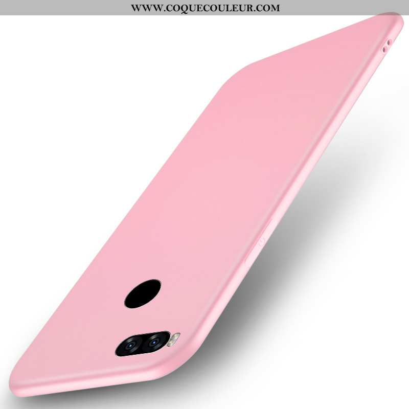 Étui Xiaomi Mi A1 Silicone Petit Téléphone Portable, Coque Xiaomi Mi A1 Protection Noir Rose