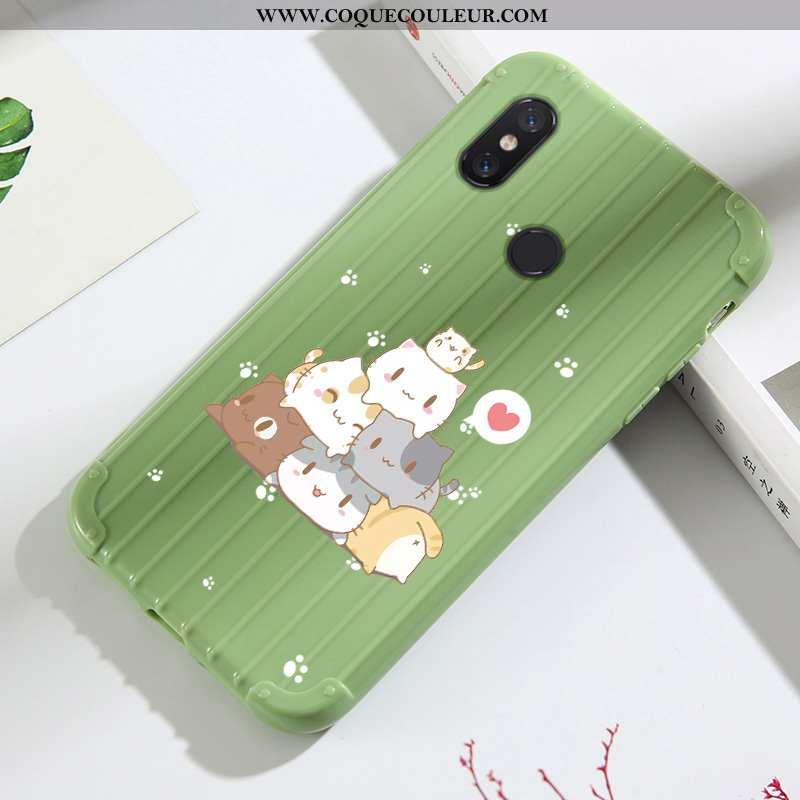 Coque Xiaomi Mi A2 Lite Dessin Animé Vert Tout Compris, Housse Xiaomi Mi A2 Lite Charmant Mesh Verte
