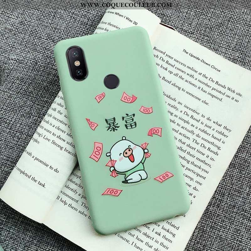 Étui Xiaomi Mi A2 Lite Ultra Vert Incassable, Coque Xiaomi Mi A2 Lite Tendance Petit Verte