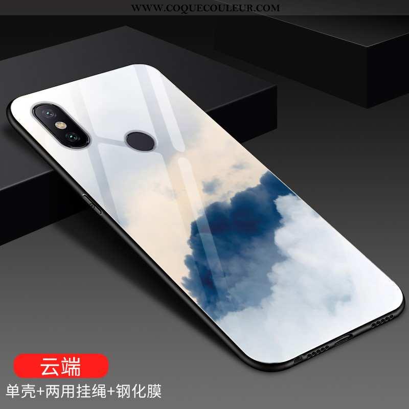 Coque Xiaomi Mi A2 Lite Mode Petit Coque, Housse Xiaomi Mi A2 Lite Protection Rouge Bleu