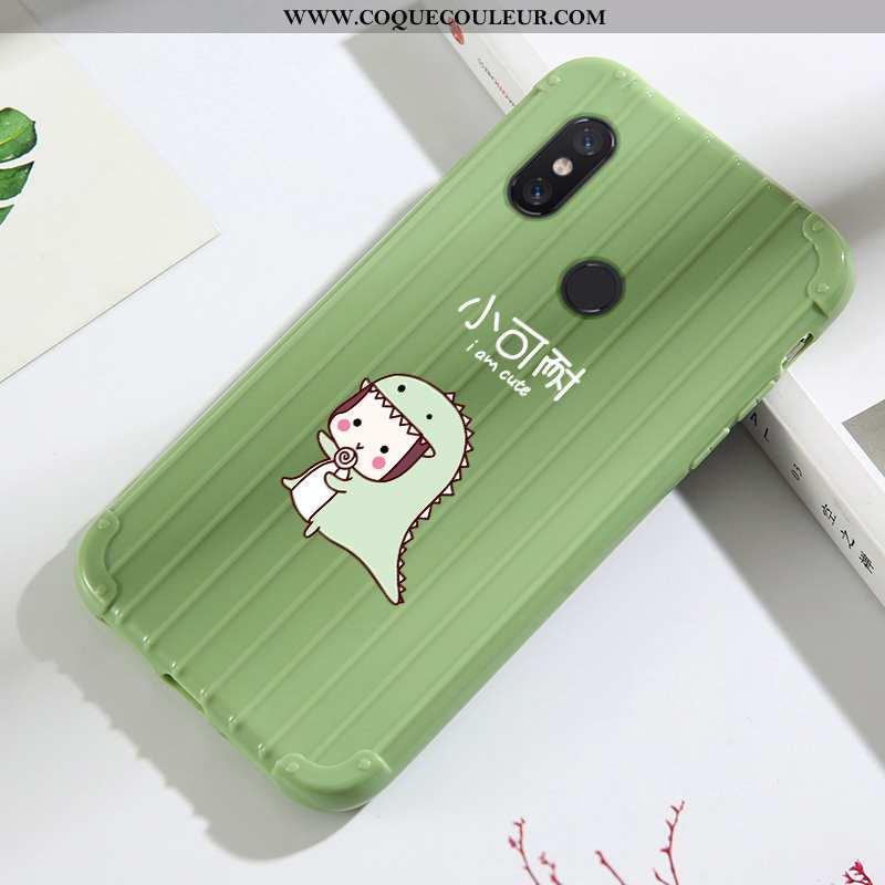 Étui Xiaomi Mi A2 Lite Protection Jeunesse Fluide Doux, Coque Xiaomi Mi A2 Lite Dessin Animé Verte