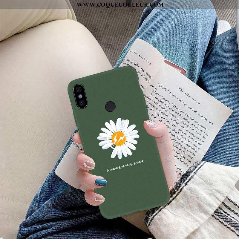 Housse Xiaomi Mi A2 Lite Fluide Doux Vert Rouge, Étui Xiaomi Mi A2 Lite Silicone Verte