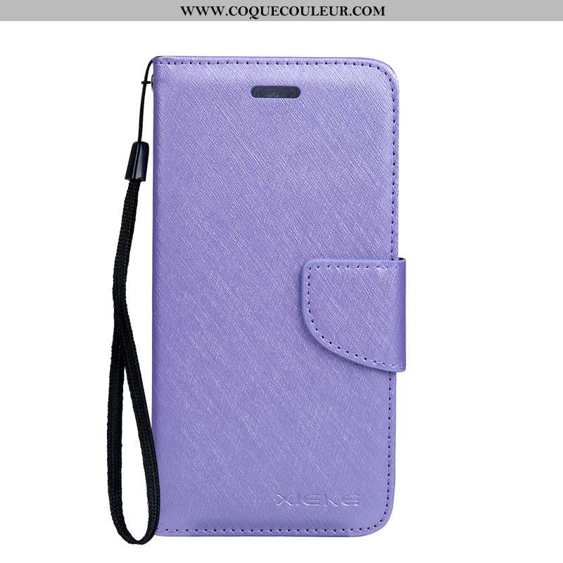 Coque Xiaomi Mi A2 Lite Fluide Doux Violet Cuir, Housse Xiaomi Mi A2 Lite Protection Rouge