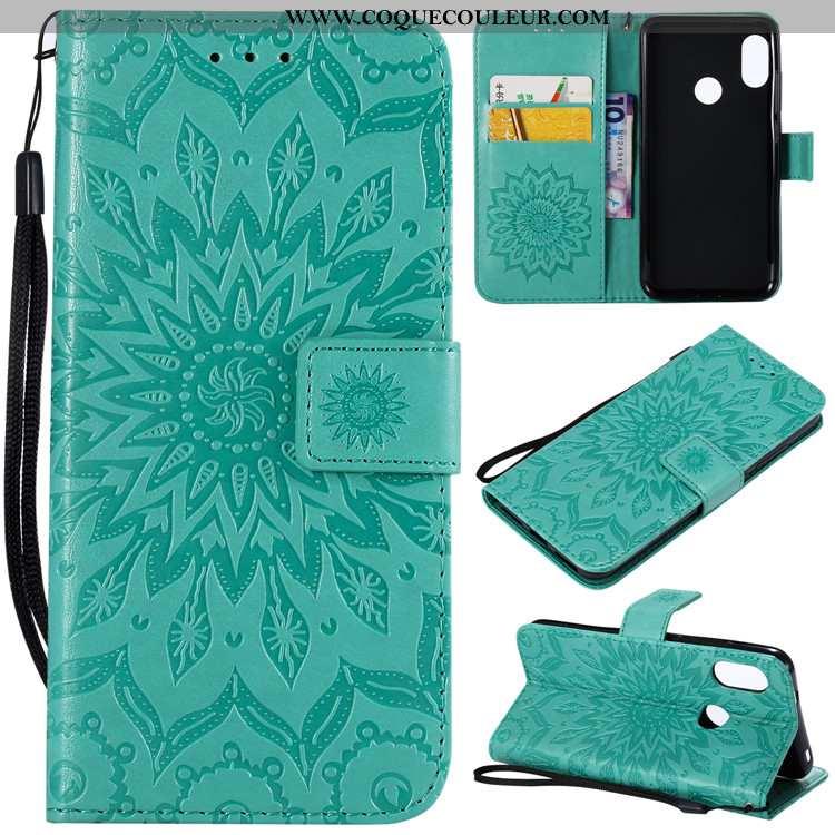Coque Xiaomi Mi A2 Lite Protection Vert Téléphone Portable, Housse Xiaomi Mi A2 Lite Cuir Fluide Dou