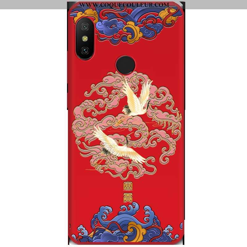 Coque Xiaomi Mi A2 Lite Tendance Rouge Tout Compris, Housse Xiaomi Mi A2 Lite Fluide Doux Vent