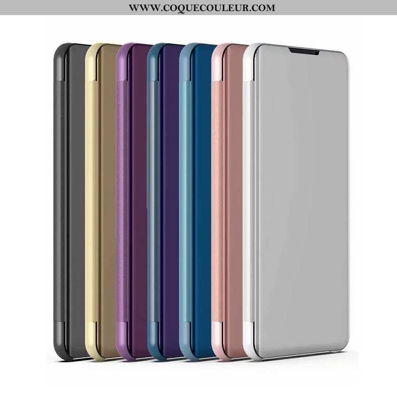 Housse Xiaomi Mi A2 Lite Placage Support Petit, Étui Xiaomi Mi A2 Lite Téléphone Portable Rouge Arge