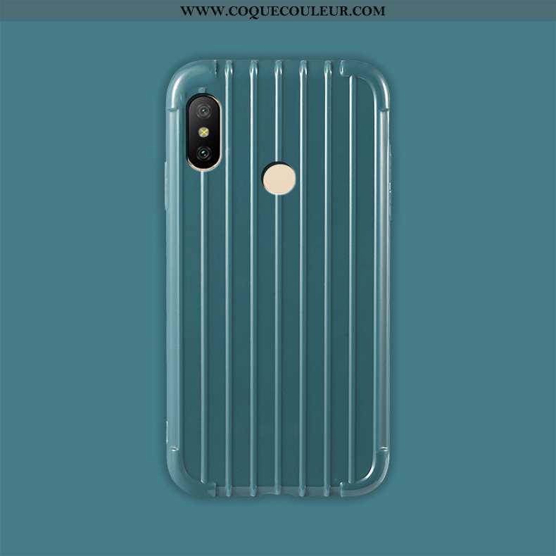 Étui Xiaomi Mi A2 Lite Fluide Doux Coque Bleu, Xiaomi Mi A2 Lite Silicone Protection Bleu