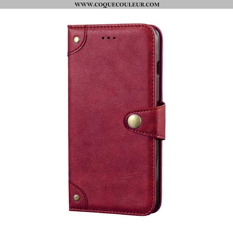 Coque Xiaomi Mi A2 Lite Créatif Étui Protection, Housse Xiaomi Mi A2 Lite Portefeuille Bordeaux