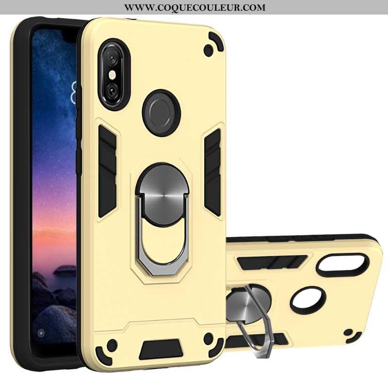 Housse Xiaomi Mi A2 Lite Protection Support Jaune, Étui Xiaomi Mi A2 Lite Coque Antidérapant Jaune