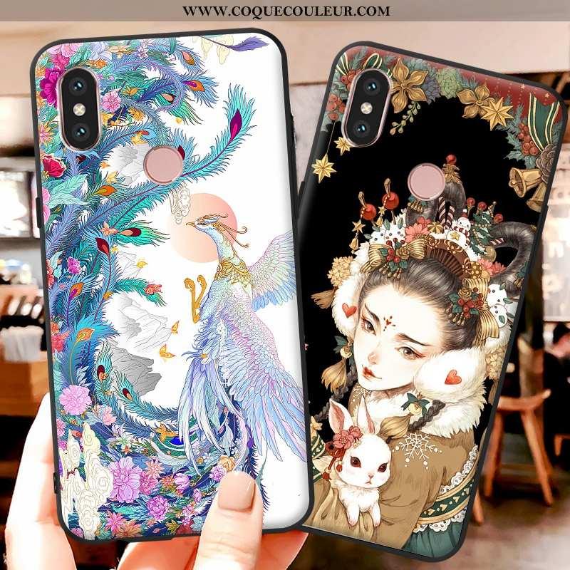 Étui Xiaomi Mi A2 Lite Fluide Doux Coque Multicolore, Xiaomi Mi A2 Lite Dessin Animé Téléphone Porta