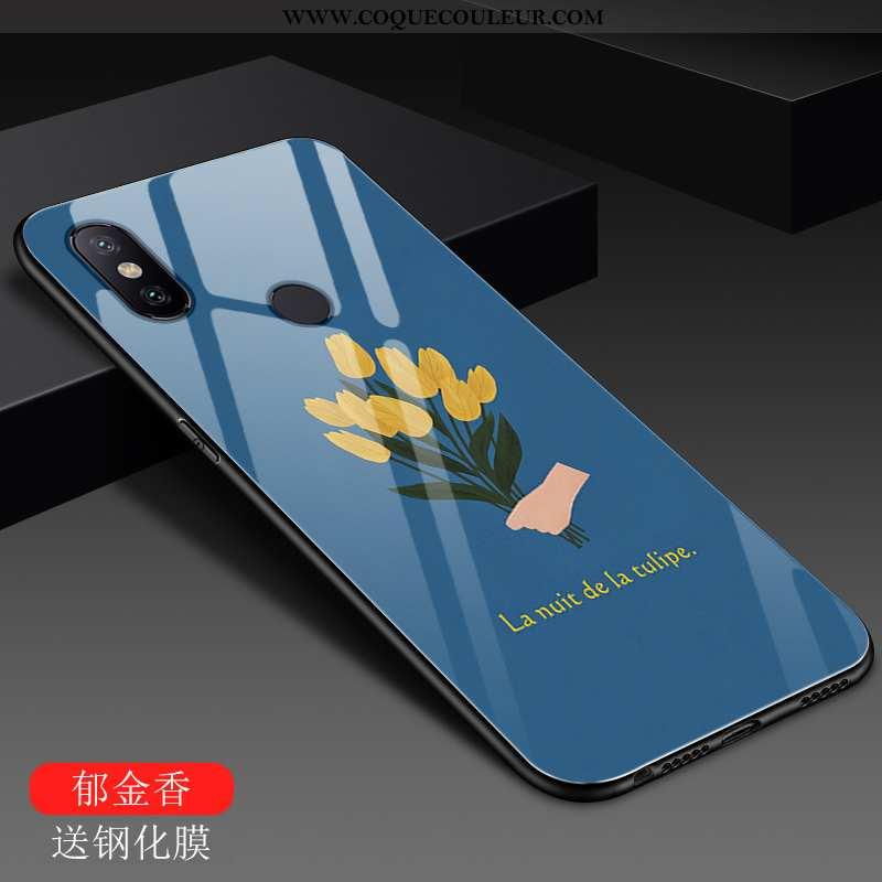 Étui Xiaomi Mi A2 Lite Tendance Bleu Incassable, Coque Xiaomi Mi A2 Lite Mode Rouge