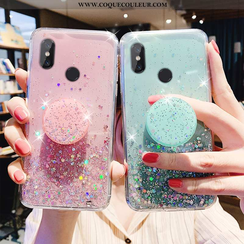 Étui Xiaomi Mi A2 Lite Protection Net Rouge Incassable, Coque Xiaomi Mi A2 Lite Transparent Verte