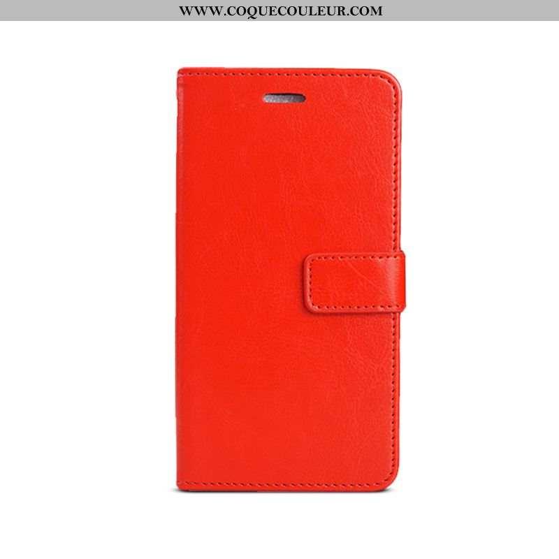 Housse Xiaomi Mi A2 Personnalité Étui Rouge, Xiaomi Mi A2 Cuir Téléphone Portable Rouge