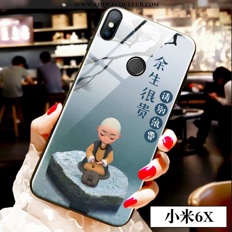 Étui Xiaomi Mi A2 Tendance Style Chinois Téléphone Portable, Coque Xiaomi Mi A2 Verre Tout Compris B