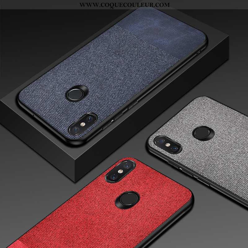 Coque Xiaomi Mi A2 Silicone Petit Antidérapant, Housse Xiaomi Mi A2 Cuir Étui Bleu