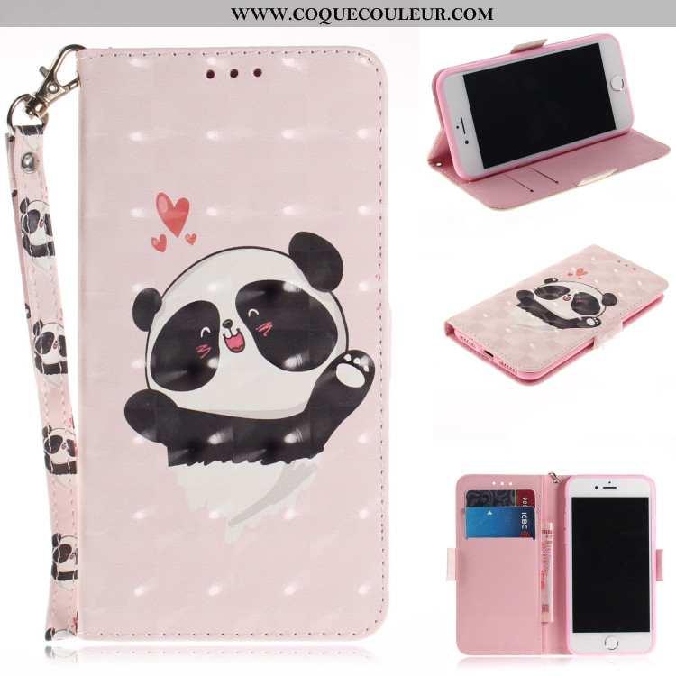 Étui Xiaomi Mi A2 Tendance Téléphone Portable Étui, Coque Xiaomi Mi A2 Fluide Doux Portefeuille Rose