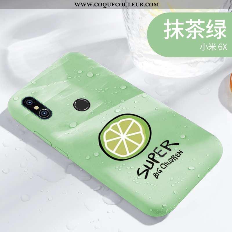 Coque Xiaomi Mi A2 Délavé En Daim Vent Clair, Housse Xiaomi Mi A2 Personnalité Téléphone Portable Ve