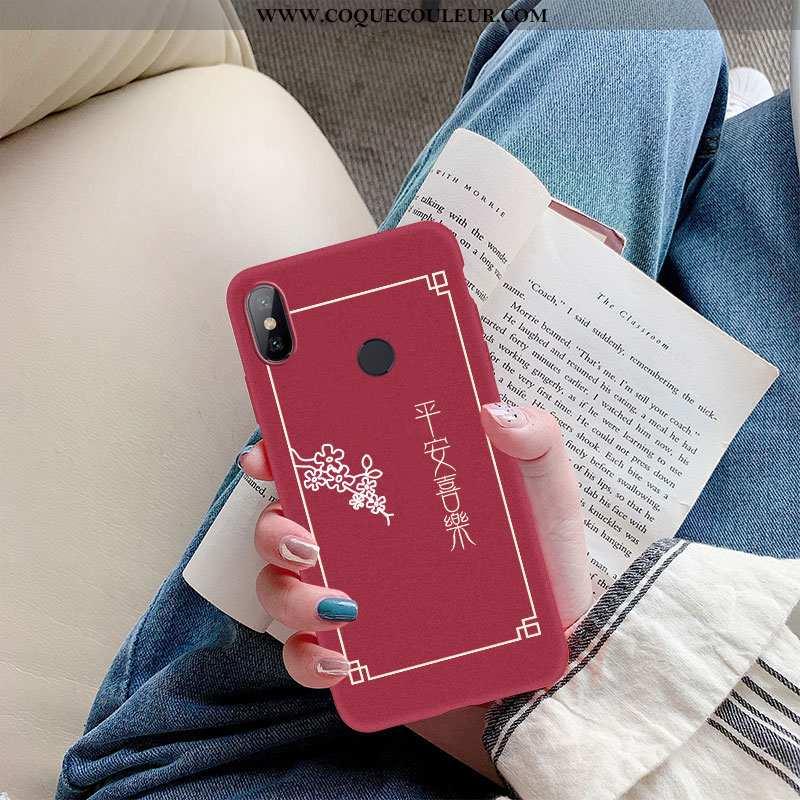 Housse Xiaomi Mi A2 Ultra Rouge Nouveau, Étui Xiaomi Mi A2 Légère Fluide Doux Bordeaux