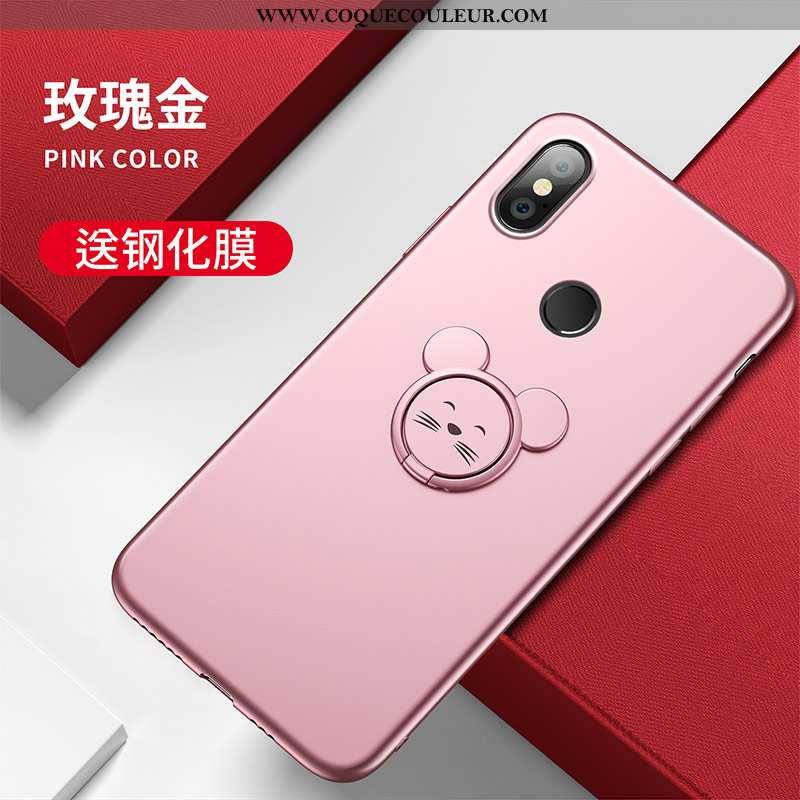 Coque Xiaomi Mi A2 Fluide Doux Rat Nouveau, Housse Xiaomi Mi A2 Silicone Charmant Rose