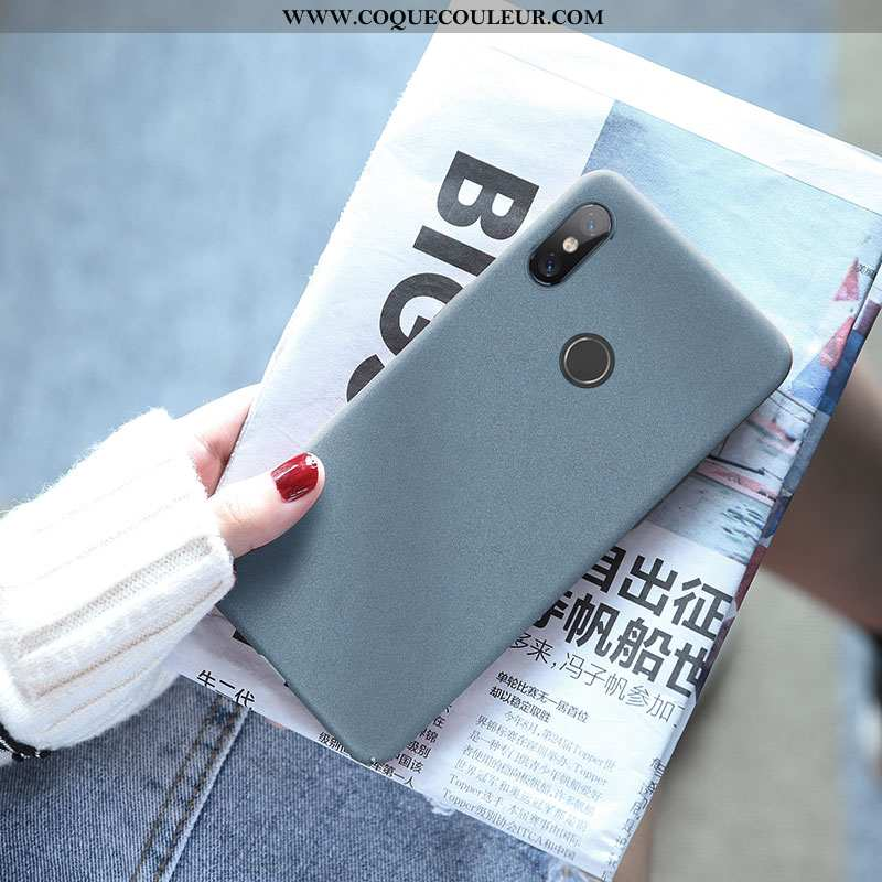 Housse Xiaomi Mi A2 Ultra Téléphone Portable Net Rouge, Étui Xiaomi Mi A2 Tendance Simple Bleu