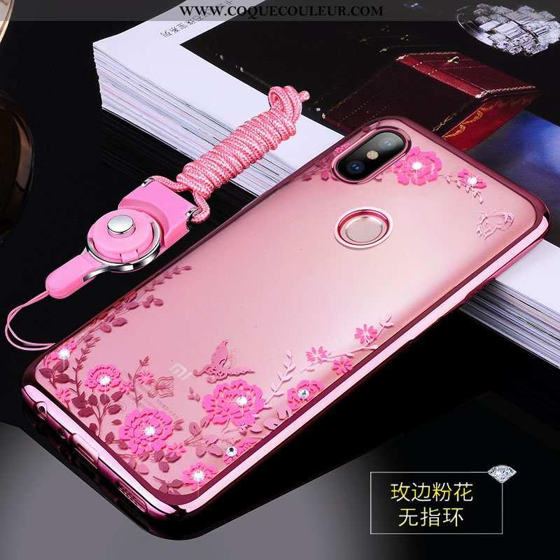 Housse Xiaomi Mi A2 Tendance Transparent Personnalité, Étui Xiaomi Mi A2 Légère Coque Rose