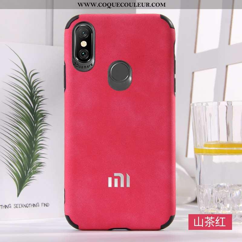 Étui Xiaomi Mi A2 Mode Tendance Nouveau, Coque Xiaomi Mi A2 Protection Téléphone Portable Rouge
