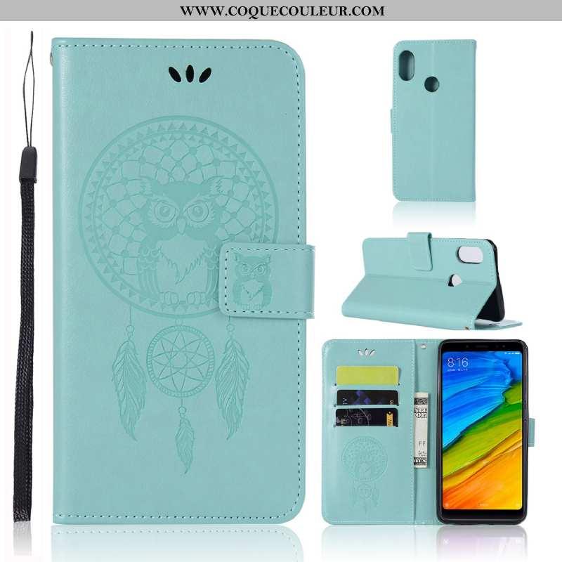 Étui Xiaomi Mi A2 Cuir Vert Housse, Coque Xiaomi Mi A2 Protection Téléphone Portable Verte