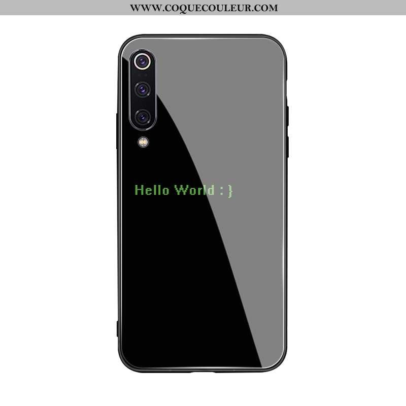 Étui Xiaomi Mi A3 Créatif Frais Coque, Coque Xiaomi Mi A3 Silicone Protection Noir