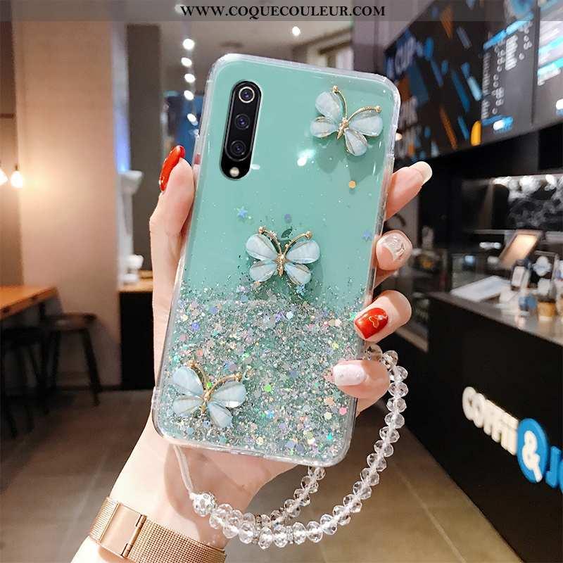 Étui Xiaomi Mi A3 Ultra Fluide Doux Nouveau, Coque Xiaomi Mi A3 Légère Papillon Bleu