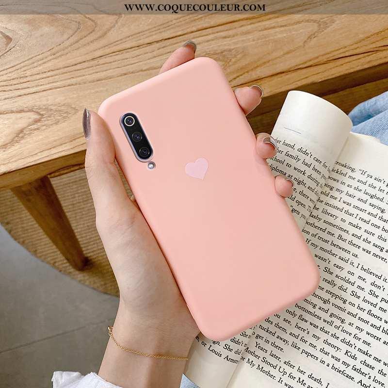 Housse Xiaomi Mi A3 Silicone Coque Téléphone Portable, Étui Xiaomi Mi A3 Protection Tendance Rose