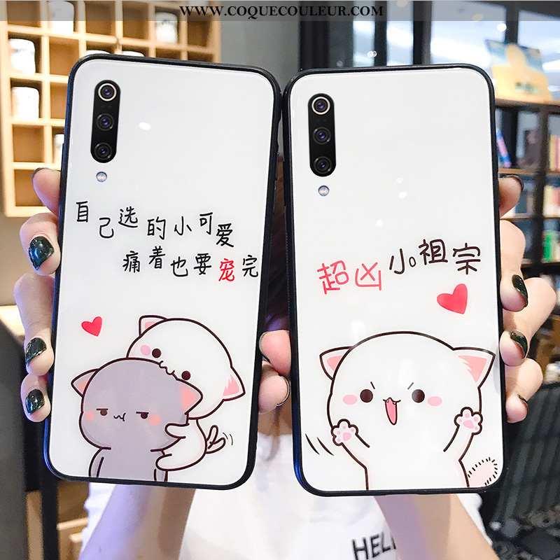 Coque Xiaomi Mi A3 Créatif Vent Nouveau, Housse Xiaomi Mi A3 Dessin Animé Amoureux Blanche