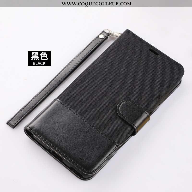 Coque Xiaomi Mi A3 Cuir Petit Téléphone Portable, Housse Xiaomi Mi A3 Incassable Noir