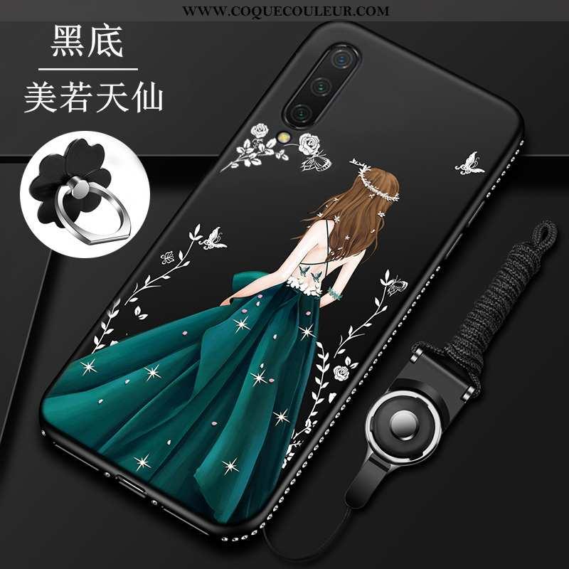 Étui Xiaomi Mi A3 Protection Coque Personnalisé, Xiaomi Mi A3 Délavé En Daim Tout Compris Noir