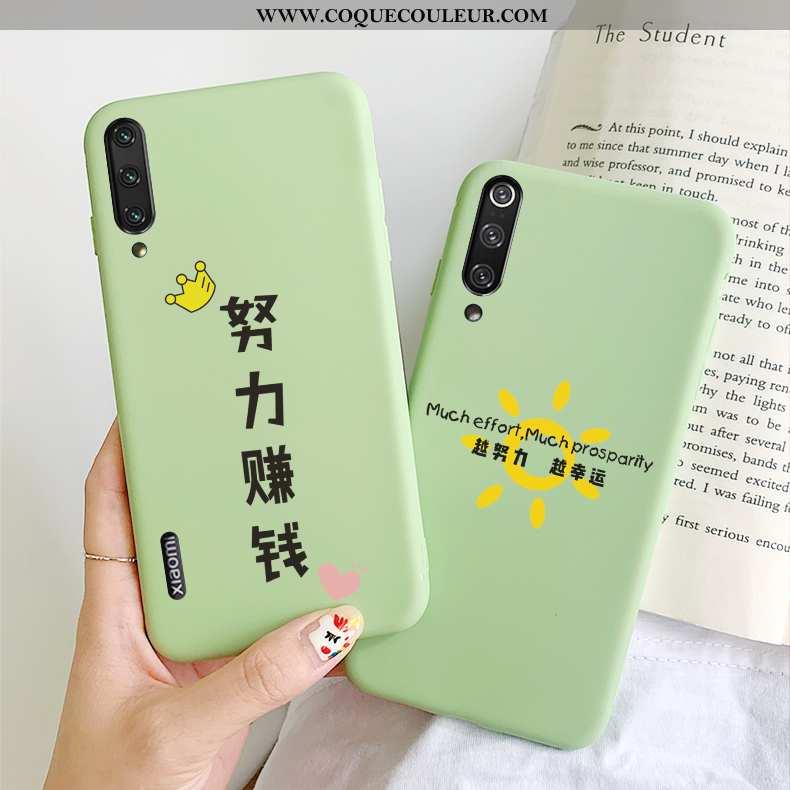 Housse Xiaomi Mi A3 Téléphone Portable Amoureux Frais, Étui Xiaomi Mi A3 Incassable Verte