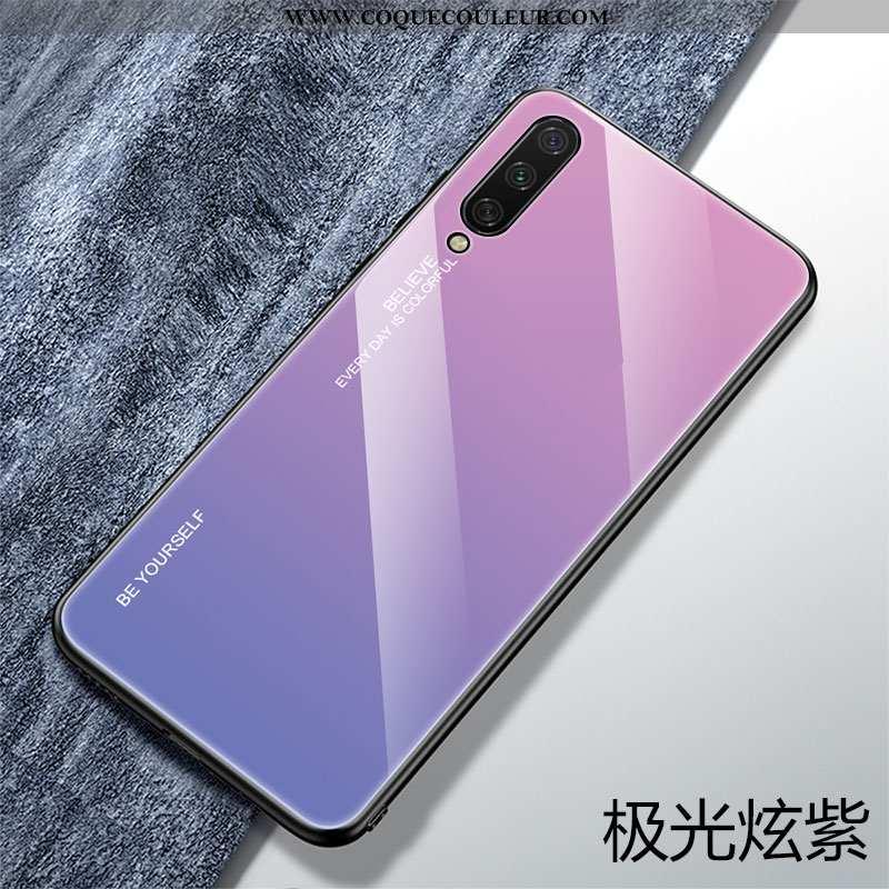 Coque Xiaomi Mi A3 Verre Ultra Petit, Housse Xiaomi Mi A3 Personnalité Créatif Violet