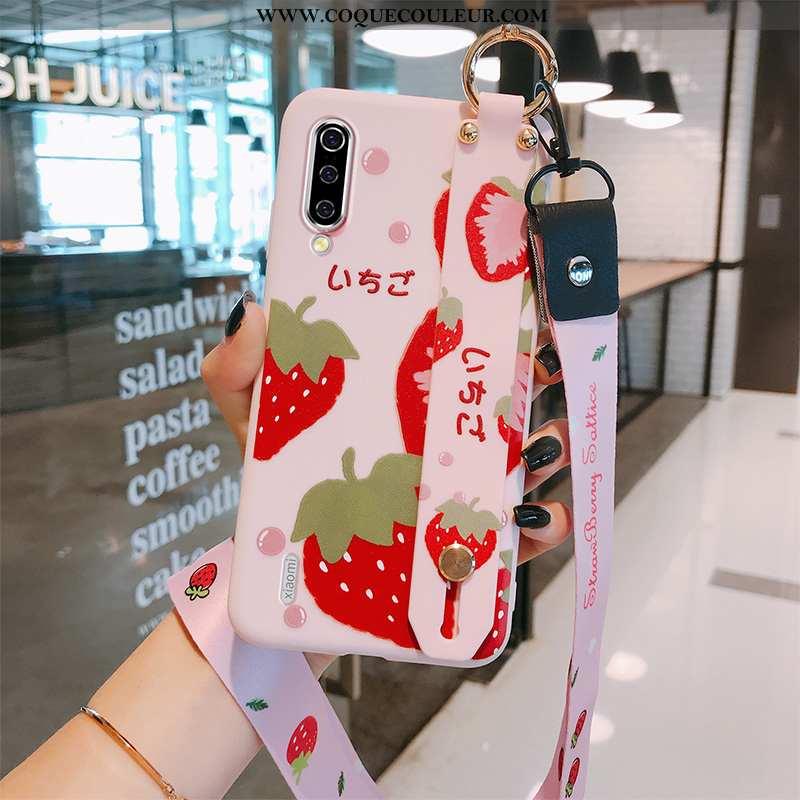 Étui Xiaomi Mi A3 Créatif Coque Petit, Xiaomi Mi A3 Charmant Téléphone Portable Rouge
