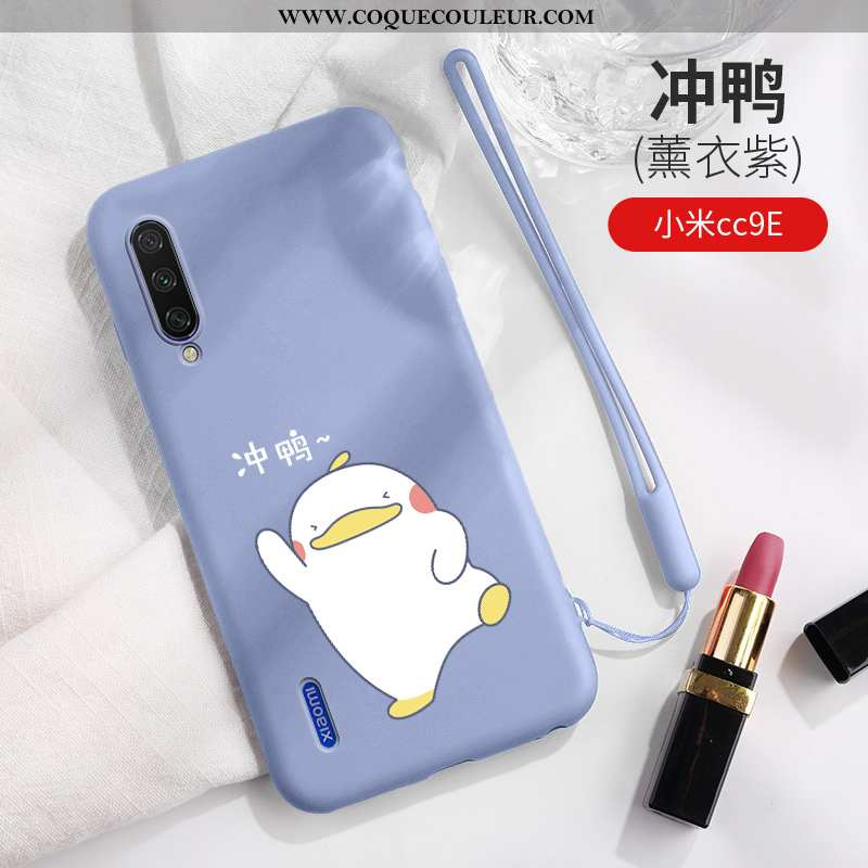 Coque Xiaomi Mi A3 Dessin Animé Silicone, Housse Xiaomi Mi A3 Charmant Légère Bleu