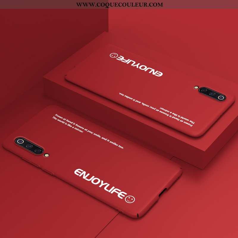Housse Xiaomi Mi A3 Personnalité Étui Net Rouge, Xiaomi Mi A3 Créatif Rouge