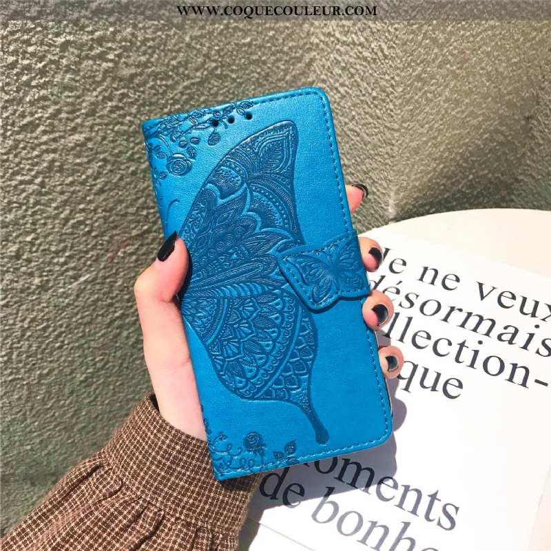 Coque Xiaomi Mi Max 3 Cuir Clamshell Étui, Housse Xiaomi Mi Max 3 Protection Bleu