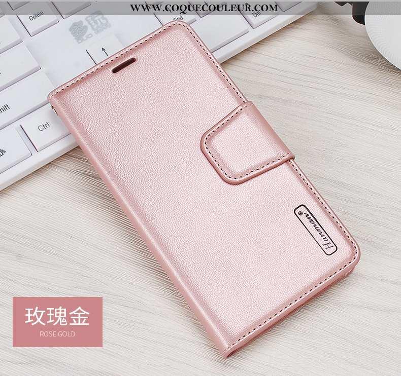 Coque Xiaomi Mi Max 3 Cuir Petit Véritable, Housse Xiaomi Mi Max 3 Protection Téléphone Portable Ros