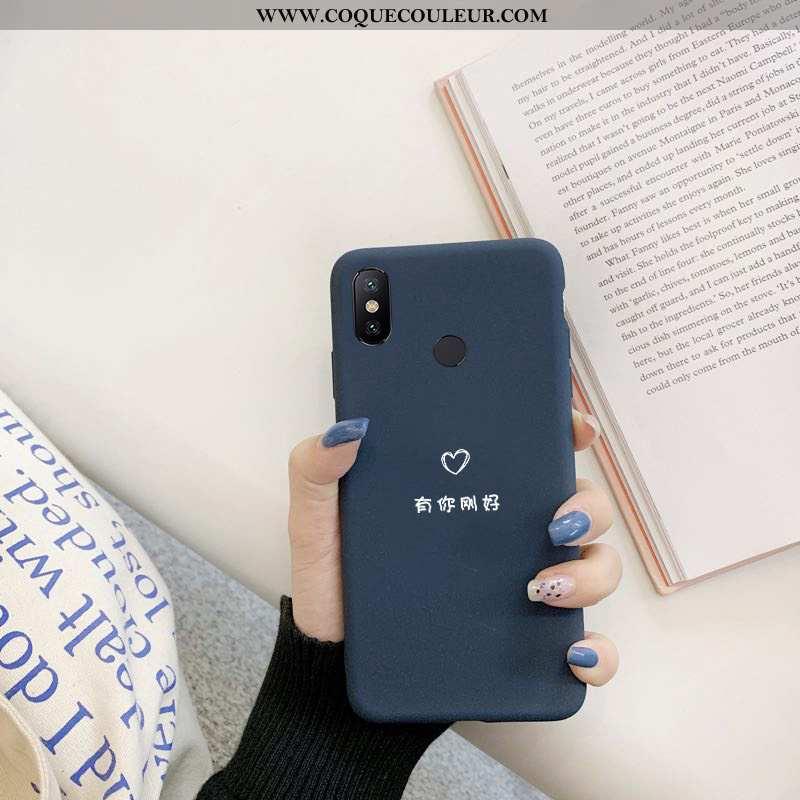 Étui Xiaomi Mi Max 3 Créatif Silicone Coque, Coque Xiaomi Mi Max 3 Tendance Bleu Marin Bleu Foncé
