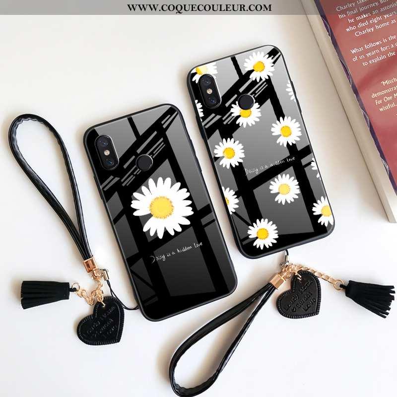 Housse Xiaomi Mi Max 3 Protection Dragon Noir, Étui Xiaomi Mi Max 3 Verre Art Noir