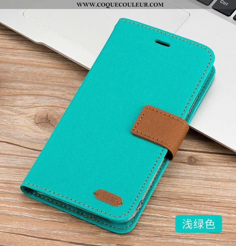 Étui Xiaomi Mi Max 3 Cuir Carte Incassable, Coque Xiaomi Mi Max 3 Luxe Grand Bleu